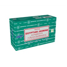 SATYA - EGYPTIAN JASMINE INCENSE STICKS - 12 PACK