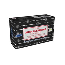 SATYA - AURA CLEANSING INCENSE STICKS - 12 PACK