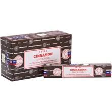 SATYA - CINNAMON INCENSE STICKS - 15G X 12 PACK