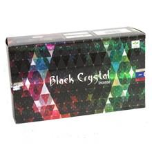 SATYA - BLACK CRYSTAL INCENSE STICKS - 12 PACK