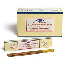 SATYA - CALIFORNIAN WHITE SAGE INCENSE STICKS - 12