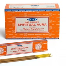 SATYA - SPIRITUAL AURA INCENSE STICKS - 15GX12PACK