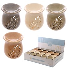 EDEN - CRACKLE GLAZE CERAMIC OIL BURNER - 4 ASST