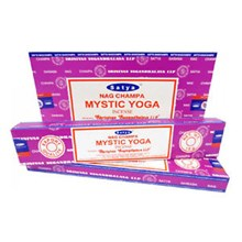 SATYA - MYSTIC YOGA INCENSE STICKS - 15G X 12 PACK