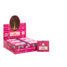 SATYA - ROSE DHOOP CONES - 12 PACK