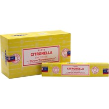 SATYA - CITRONELLA INCENSE STICKS - 15G X 12 PACK