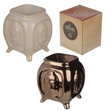 EDEN - CERAMIC OIL BURNER - EMBOSSED BUDDHA