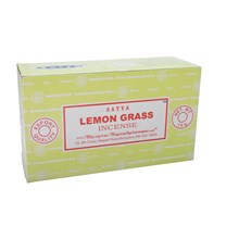 SATYA - LEMON GRASS INCENSE STICKS - 15G X 12