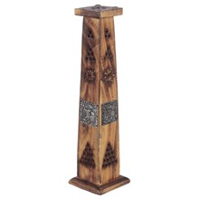 MANGO WOOD TOWER INCENSE BURNER - ELEPHANT