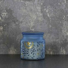 FROSTED GLASS JAR CANDLE - AMBER SHEA - 350G