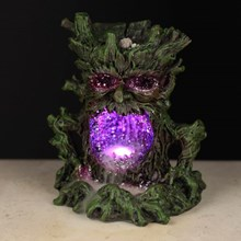 CRYSTAL GREEN MAN - LED BACKFLOW INCENSE BURNER