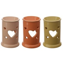 EDEN - HEART CUT OUT OIL AND TART BURNER - 3ASST