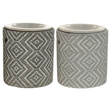 EDEN - CONCRETE GREY AND WHITE OIL BURNER- 2ASST