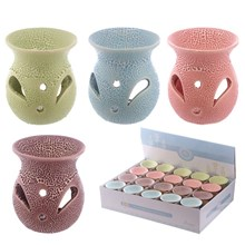 EDEN CERAMIC OIL BURNER -TEXTURED W/ CUT OUT-4ASST