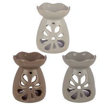 EDEN - OIL BURNER - NEUTRAL FLORAL CUT OUT - 3ASST