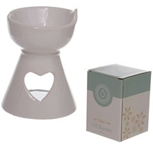 EDEN - OIL BURNER - WHITE HEART CUTOUT