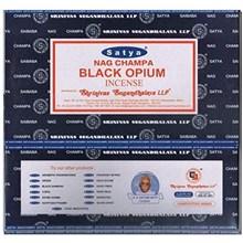 SATYA - BLACK OPIUM INCENSE STICKS - 15G X 12PACK