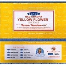 SATYA - YELLOW FLOWER INCENSE STICKS -15G X 12PACK