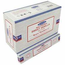 SATYA -SWEET VANILLA INCENSE STICKS -15G X 12PACK