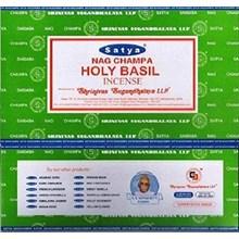 SATYA - HOLY BASIL INCENSE STICKS -15G X 12PACK