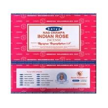 SATYA - INDIAN ROSE INCENSE STICKS -15G X 12PACK