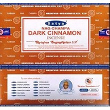 SATYA-DARK CINNAMON INCENSE STICKS -15G X 12PACK