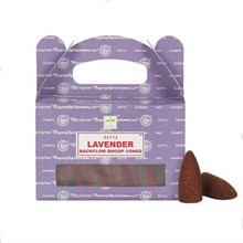 SATYA BACKFLOW DHOOP CONES - LAVENDER - 6X24PK