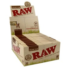 RAW ORGANIC KING SIZE SLIM PAPERS - 50 PACK