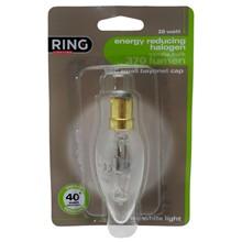 RING 28W ENERGY SAVING SBC CANDLE BULB