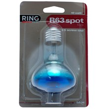 RING 40W SPOT BULB R63 ***BLUE*** LIGHT