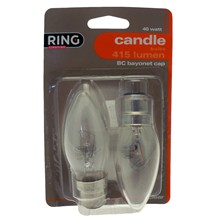 RING CANDLE BULB 2PK BC 40W