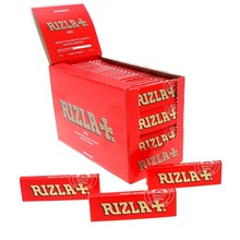 RIZLA RED REGULAR SIZE PAPERS - 100 PACK