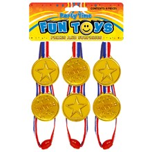 MEDAL GOLD 35MM (6PC)