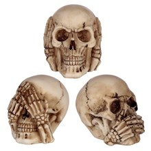 SEE NO HEAR NO SPEAK NO SKULLS - 3 PACK