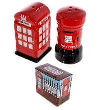 NOVELTY SALT AND PEPPER SHAKER -POST AND TELEPHONE