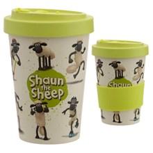 REUSABLE BAMBOO TRAVEL CUP -SHAUN THE SHEEP-400 ML