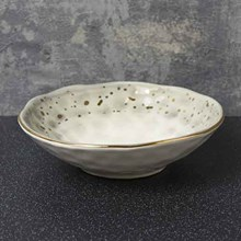 DIMPLED TAPAS BOWL - BLACK AND GOLD - 15CM