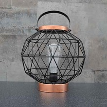 BATTERY OPERATED METAL LANTERN - ROUND