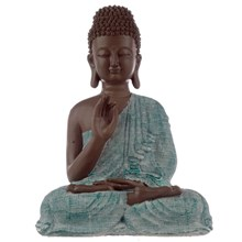 THAI BUDDHA - BROWN AND BLUE - ENLIGHTENMENT