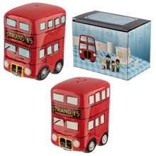NOVELTY SALT AND PEPPER SET - ROUTEMASTER BUS