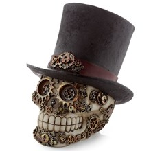 STEAMPUNK STYLE SKULL WITH TOP HAT