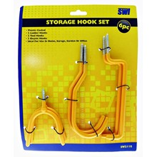 SWL - STORAGE HOOK SET - 6 PACK