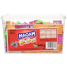 MAOAM - 120 PC STRIPES IN TUB - 840G