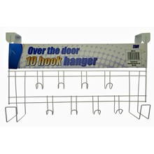SWL - WHITE OVER THE DOOR HANGER 10 HOOKS