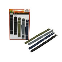 WATCH STRAPS 18MM MILITARY COLOUR NYLON