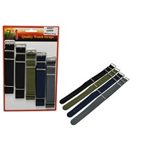 WATCH STRAPS 22MM MILITARY COLOUR NYLON