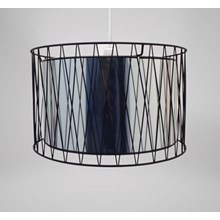 CHANDELIER LARGE BLACK & SILVER SHADES