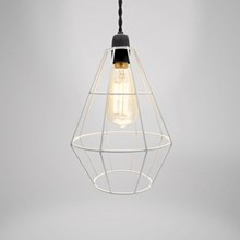 CHANDELIER SHOREDITCH METAL LIGHT FITTING WHITE