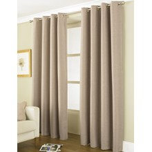 "LINEA BLACKOUT CURTAIN - 66 X 90"" LATTE"