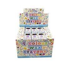 COLOUR WAX CRAYONS - 4 PACK X 120